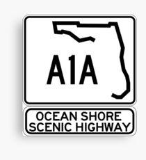 A1A - Ocean Shore Scenic Highway Canvas Print