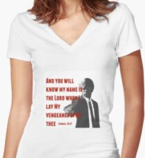 Ezekiel 25:17 Women's Fitted V-Neck T-Shirt