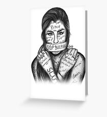 Tarjeta de felicitación Lauren Jauregui - Detener la intimidación