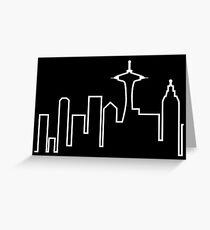 Seattle Skyline (Frasier) Greeting Card