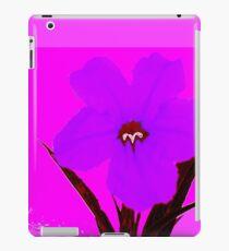 pop flower violet blue iPad Case/Skin
