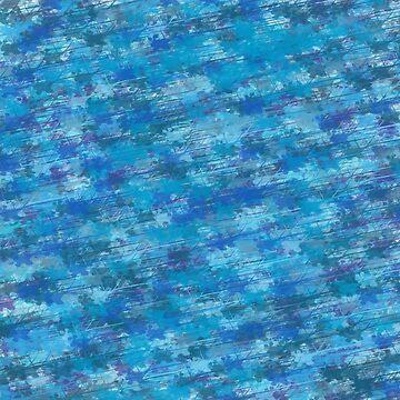 Blue Dragonflies by salvva