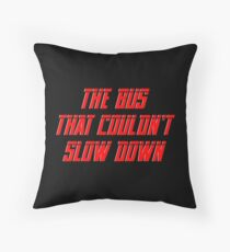 The bus that couldn't slow down – Simpsons, Homer Throw Pillow