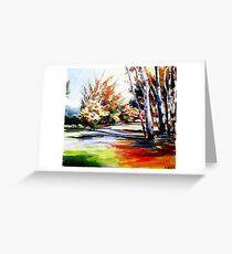 Autumn nature landscape  Greeting Card