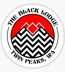 The Black Lodge Club - Twin Peaks Sticker