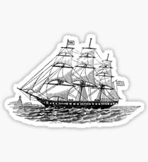 Victorian Era Ship - 3 Sticker