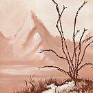Ocotillo plant in the Desert Mountains * by James Lewis Hamilton