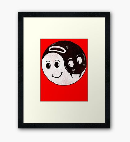 The Good and The Evil Framed Print