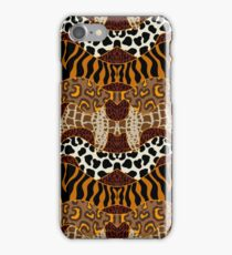 Seamless wavy vector pattern with animal prints.  iPhone Case/Skin