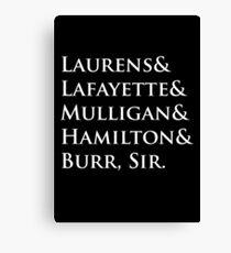 Hamilton Names Canvas Print