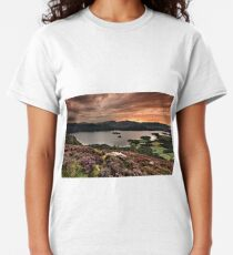 Sunset over Derwentwater from Walla Crag English Lake District Classic T-Shirt