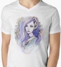 Purple hair Men's V-Neck T-Shirt