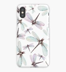 Watercolor Romantic Dragonflies iPhone Case/Skin