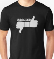 Funny Undecided Like Dislike Thumbs Up and Down  T-Shirt