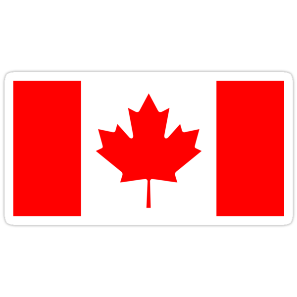 Quot Canada Flag Quot Stickers By States Redbubble