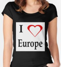 I Love Europe Women's Fitted Scoop T-Shirt