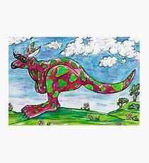 Prue the Pink Kangaroo Photographic Print