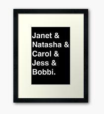 Avengers Ladies (White) Framed Print