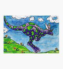 Priscilla the Purple Kangaroo Photographic Print