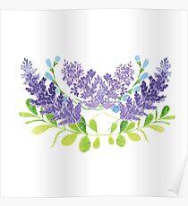 Lavender Floral Poster