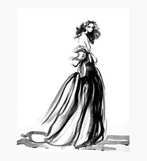 ink gown Photographic Print