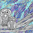 Chinese Paper Owls 1 by kewzoo