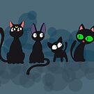 Kuro Cats by thedustyphoenix