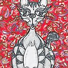 Chinese Paper Cat 1 by kewzoo