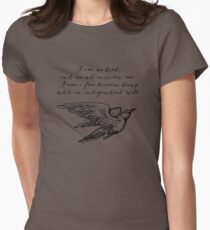 Jane Eyre - I Am No Bird Womens Fitted T-Shirt