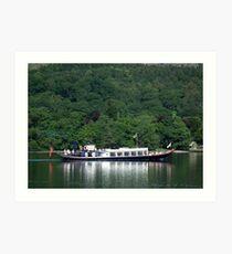 Steam Yacht Gondola, Coniston Water, Lake District National Park, Cumbria, UK Art Print