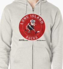 Long Island Ducks Hockey Team Zipped Hoodie