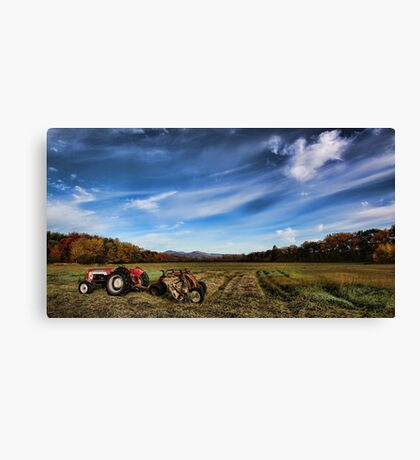 Making Hay -- Fryeburg Harbor Canvas Print