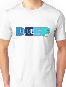 Deep Blue Love Ocean Beach Surfing Navy Design Unisex T-Shirt
