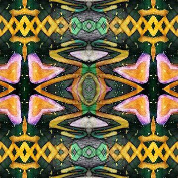 Snake Eye Star Flower by VMMGLLC