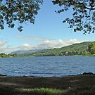 Panorama looking north along Esthwaite Water. by Philip Mitchell