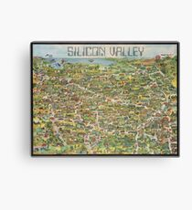 Silicon Valley 1982 pictorial map Canvas Print