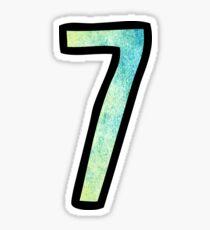 Number 7 Sticker