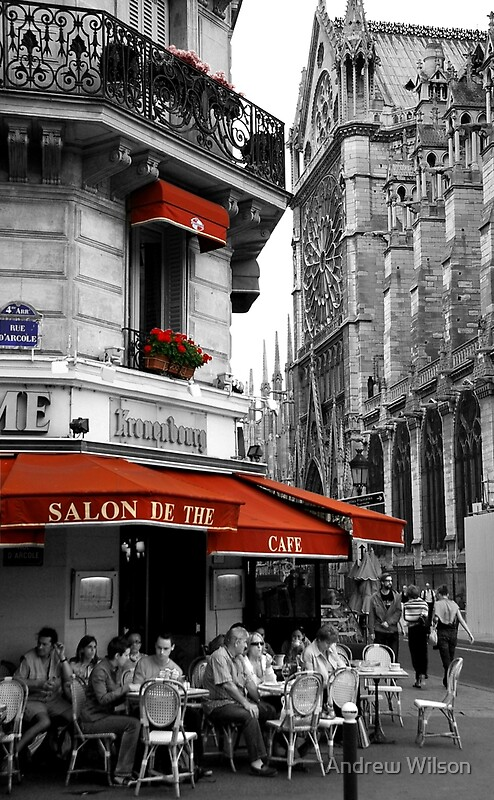 """""""French Cafe at Notre Dame"""" by Andrew Wilson 