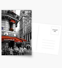 French Cafe at Notre Dame Postcards