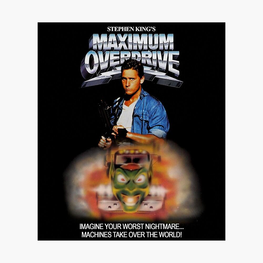 Maximum Overdrive (1986) VHS Poster Fotodruck