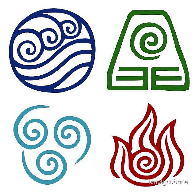 Quot Avatar Element Symbols Quot By Lonelycubone Redbubble
