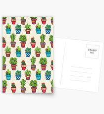 Cactus Pot Plant Garden Postkarten