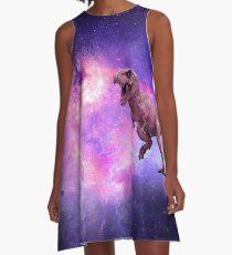 A Dinosaur Flying Through The Void A-Line Dress