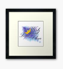 Yato Loud and Clear Framed Print