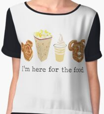 Here for the food. Women's Chiffon Top