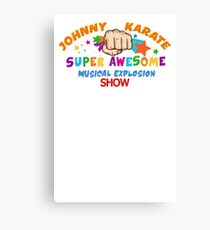 Karate Super Awesome show Canvas Print