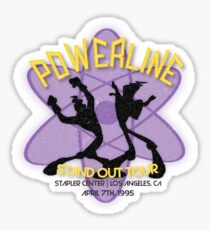 Vintage Powerline Concert Logo - A Goofy Movie Sticker