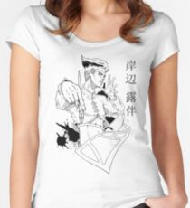 Kishibe Rohan Goes to Redbubble Women's Fitted Scoop T-Shirt
