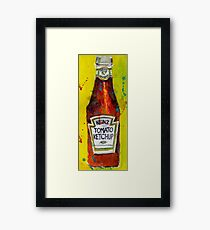 Heinz tomato Ketchup - Deli, kitchen art Framed Print