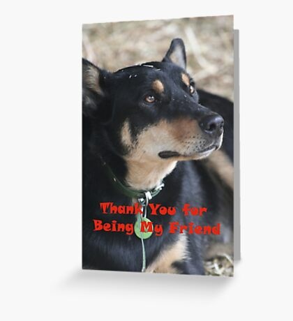 Thank you for being my friend...card Greeting Card